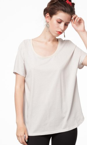 Oversized T-shirt triple striped