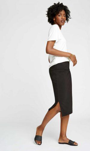 Zwarte rok met split