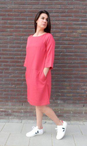 klokkende-jurk-rood-lanius