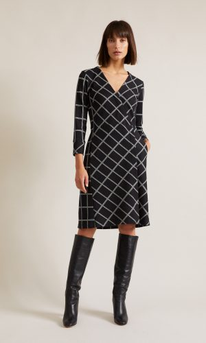 LANIUS-wrap-dress-black