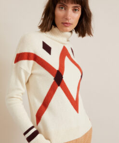 lanius-pullover-ruit-off-white
