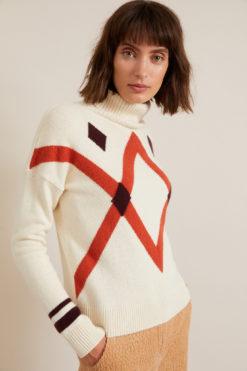 lanius-pullover-ruit-off-white