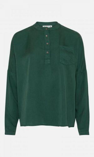 AMOV_Cille_tencel_blouse_bottle_green