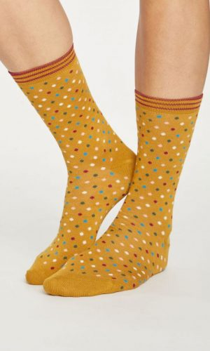 dotty-sokken-geel-bamboe-thought-clothing