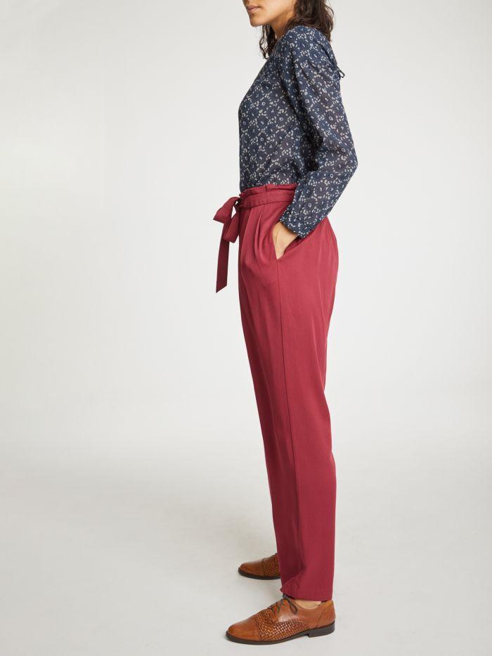 wwb4382-bilberry–red-kalmara-paper-bag-waist-modal-trousers–4
