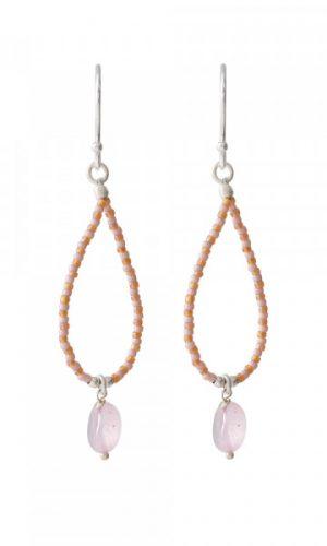 a-beautiful-story-rozenkwarts-zilver-oorbellen