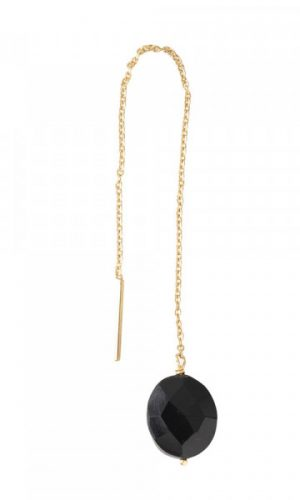 a-beautiful-story-black-onyx-goud-oorbel