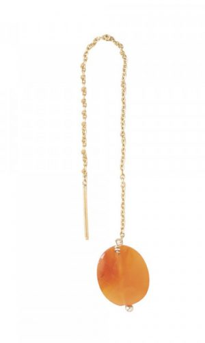 a-beautiful-story-carnelian-goud-oorbel