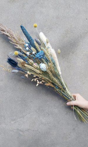 boeket-droogbloemen-blauw