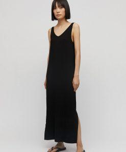 armedangels-armedangels-madalenaa-jurk-zwart-viscose