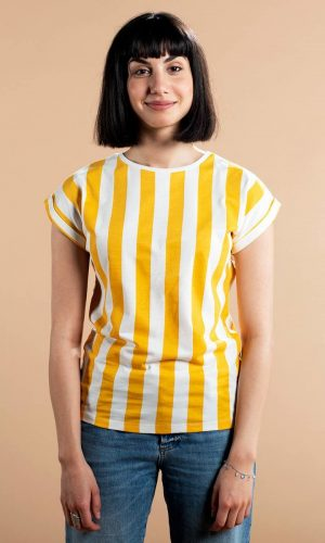 dedicated-visby-shirt-big-stripe-yellow-biologisch-katoen
