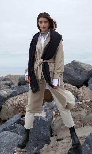 Bufandy Sjaal | Midnight XS | Brushed Solid