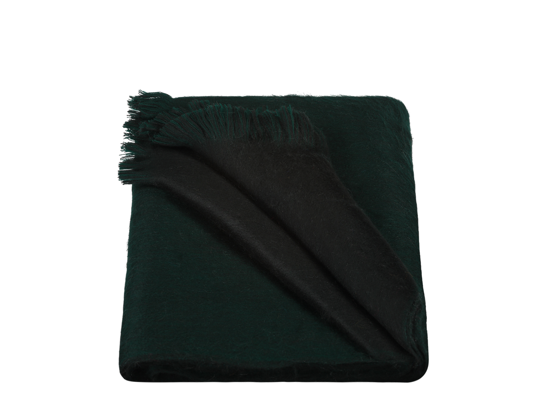 Scarf Double Forest Green Black