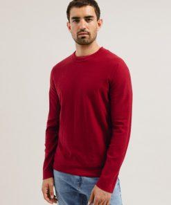 laando-pullover-intens-rood-biologisch-katoen