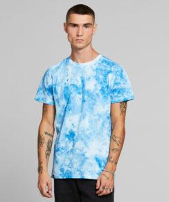 Dedicated-t-shirt-stockholm-tye-dye-blauw-biologisch-katoen