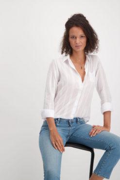 Alchemist-fashion-blouse-terra-wit-biologisch-katoen