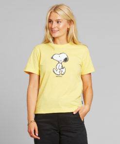 dedicated-mysen-t-shirt-snoopy-geel-biologisch-katoen