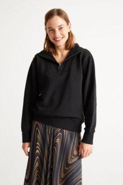 thinking-mu-Rebecca-Sweater-Zwart-biologisch-katoen