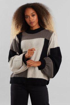 dedicated-Knitted-Rutbo-Blocks-Sweater-Grijs