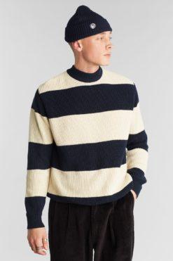 dedicated-trysil-sweater-stripe-navy-biologisch-katoen